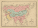 Empire des Mongols. Asia. MALTE-BRUN c1871 old antique vintage map plan chart
